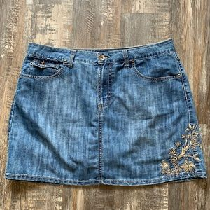 Faded Glory cute jean skirt with shorts underneath